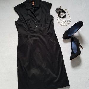 Ann Taylor • Black Cap Sleeve Dress